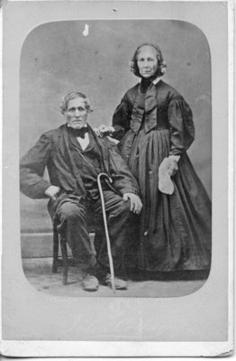 Portrait of Walter Nixon and his wife, London, Ontario