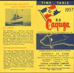 S. S.  Cayuga, Time Table 1957