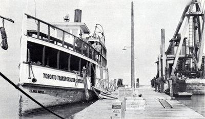 Clark Bros. at Ward's Island dock