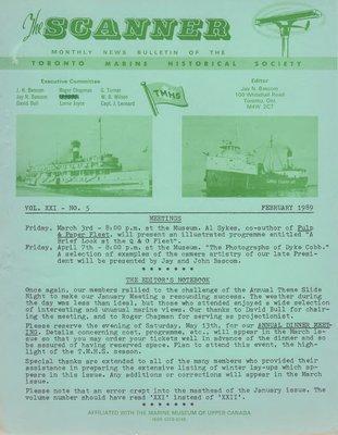 Scanner, v. 21, no. 5 (February 1989)