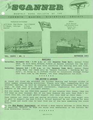 Scanner, v. 36, no. 2 (November 2003)
