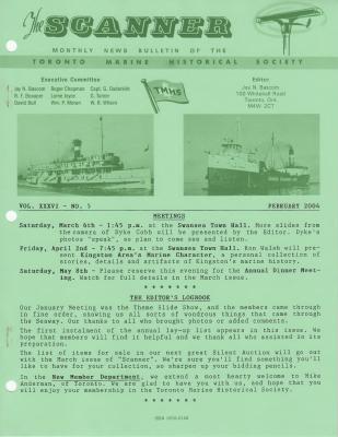 Scanner, v. 36, no. 5 (February 2004)