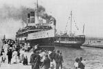 TURBINIA and MACASSA alongside the pier at Burlington