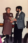 Milton Heritage Awards, 1993.  June Andrews and Barry Lee