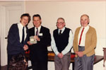 Milton Heritage 1993.  Neil Ford, Mayor Gordon Krantz, Gordon Raynor and Gordon Hume