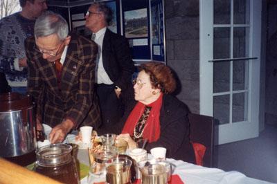 Milton Heritage Awards.  February 1996.   Visitors taking refreshments.