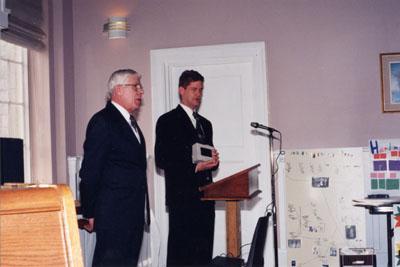 Milton Heritage Awards.  George and Jeff Bergsma, winner of the 1997 Architectural restoration award.