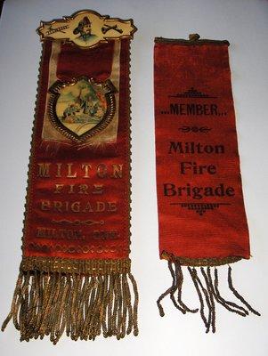 Milton Fire Brigade badges