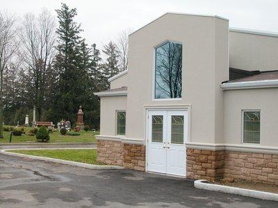 Crematorium at Evergreen Cemetery, Milton