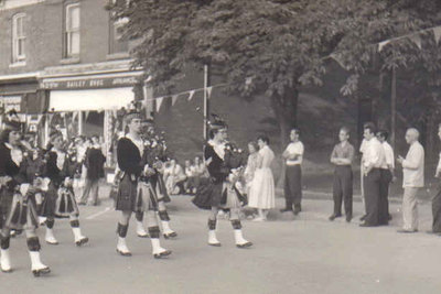 Pipe Band on Main Street, Milton, Ontario