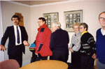 New Year's Levee. 1993.  Councillor Ron Furik and visitors.