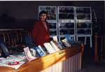 New Year's Levee. 2000.  Gloria Brown, Publications Director of the Milton Historical Society.