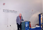 """Book Launch - """"P.L. Inventor of the Robertson Screw.""""  Author Ken Lamb giving opening comments."""