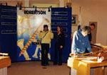 New Year's Levee 1999.  Visitors viewing P. L. Robertson display.