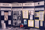 Milton Historical Society Dispaly, September 1997