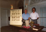 Milton Historical Society Meeting. Sept. 1992. Fred Cunningham, Ted Pakowski