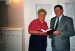 Milton Historical Society Meeting.  November 1994. David MacLachlan and Marjorie Powys.