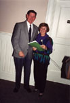 Milton Historical Society Meeting.  March 1995.  David MacLachlan and Helen Comber.