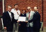 "Ontario Historical Society 1997 ""Scadding Award"" presentation to the Milton Historical Society"