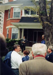 Official opening of John Thompson House, 34 Parkview Avenue, Toronto.  May 2, 1998.  Home of Ontario Historical Society