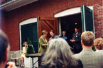 Presentation of award at 34 Parkview Avenue, Toronto, home of the Ontario Historical Society.