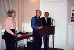 Milton Heritage Awards. Ann and Don Corker, winners of the 1995 Award for conserving a non-designated property.