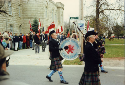 Remembrance Day Parade at Victoria Park, Milton