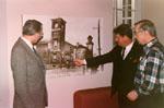 Ken Wilson, Mayor Krantz and Jim Dills