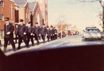 Remembrance Day Parade 1976.  Milton, Ontario