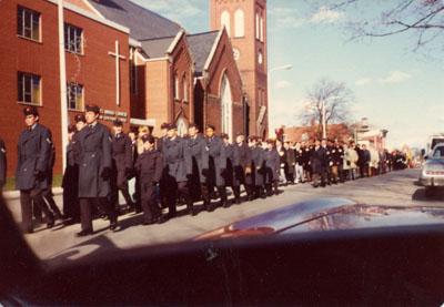 Remembrance Day Parade, 1976.   Milton, Ontario