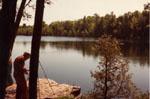Mrs. Brad Clement painting at Crawford Lake, Nassagaweya
