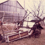 Old Massey-Harris grain binder