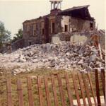 Demolition of Bruce Street School. Milton, Ont. 1973.