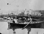 Two women in row boat
