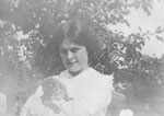 Young lady with kitten