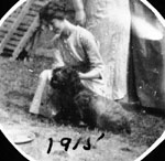 Young lady with dog
