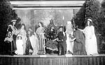 People taking part in theatrical performance
