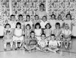 Kindergarten class photograph.