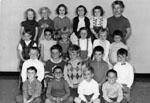 Kindergarten class photograph.  1962-63 A.M. class