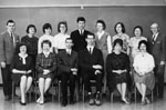 School Staff photograph.  J. M. Denyes School.  1965-66.