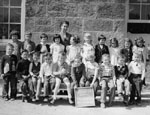 Kindergarten class photograph.  Bruce Street School