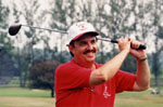 """Mike Boughton.  Barber, Organizer of the """"Golfing for Cancer"""" Tournament"""