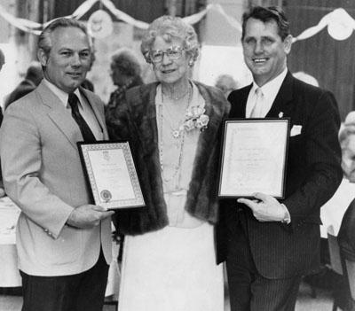 Brad Clements, Laura Dixon, Mayor Gordon Krantz