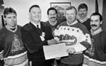 Bob Lee (with cheque)