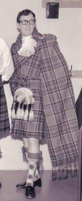 Gordon Timbers in the Stewart Tartan