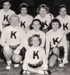 Kilbride Cheerleaders who participated in the 1953 Santa Claus parade in Milton