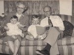 Annie Dell Dawson and George Dawson with their grandchildren