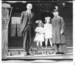 W. J. Armstrong, his wife Elspeth and granddaughters Olive and Elsie
