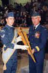 Cadet Matthew Sloski and General Jeff Brace (retired)