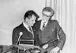 Mayor Gordon Krantz and Ernie Taylor